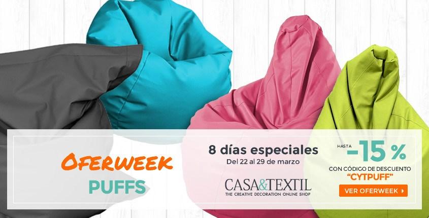 Puffs en la Oferweek de casa y textil del 22 al 29 de Marzo