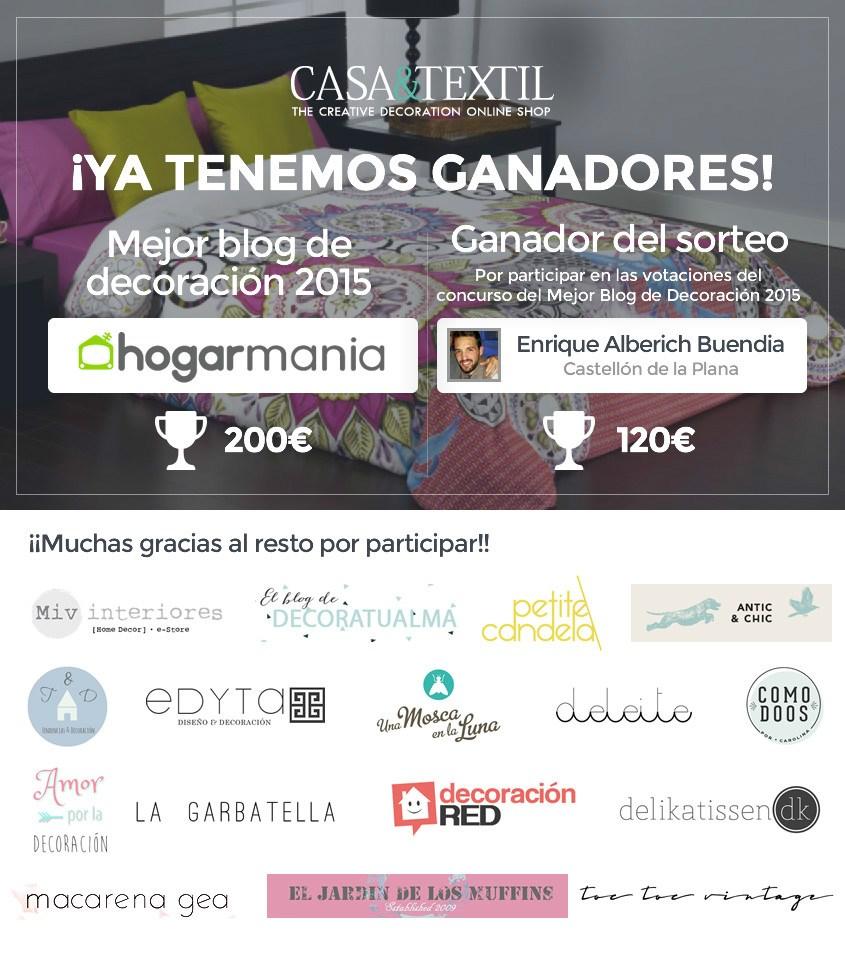 Ya tenemos ganador del concurso mejor blog de decoraci n for Mejores blogs de decoracion