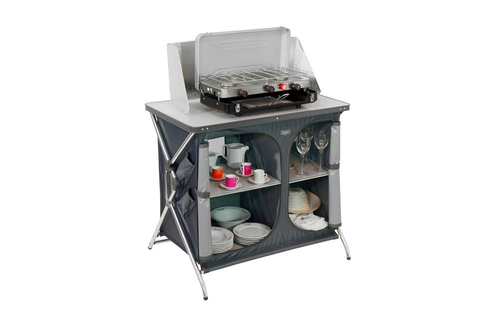Armario mesa de cocina plegable aluminio camping al-105 crespo