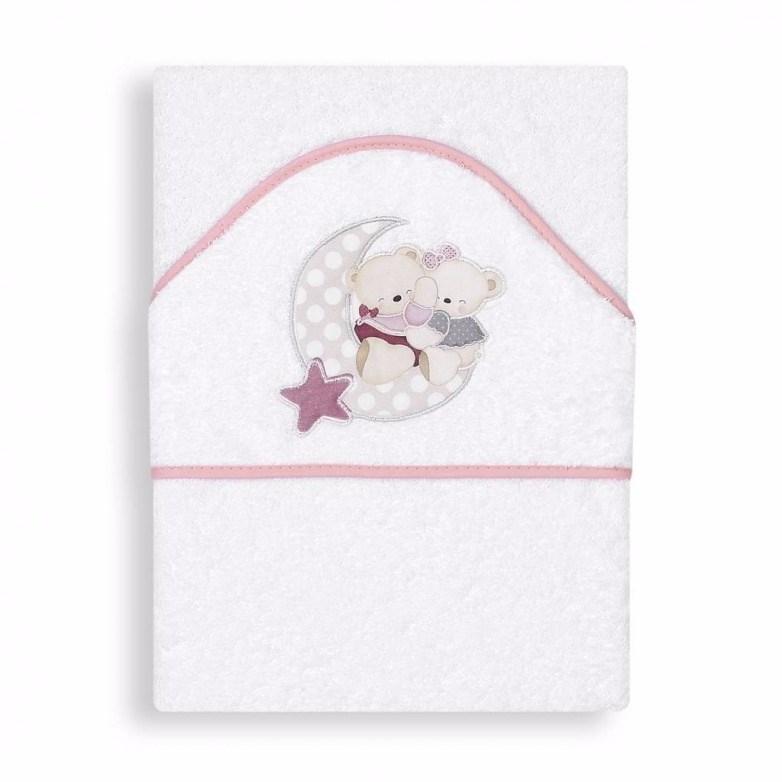 Capa de ba o amoroso blanco rosa casaytextil for Accesorios bano rosa