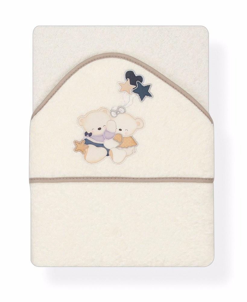 Capa de ba o bordada volamos baby beige casaytextil - Capas de bano bebe personalizadas ...