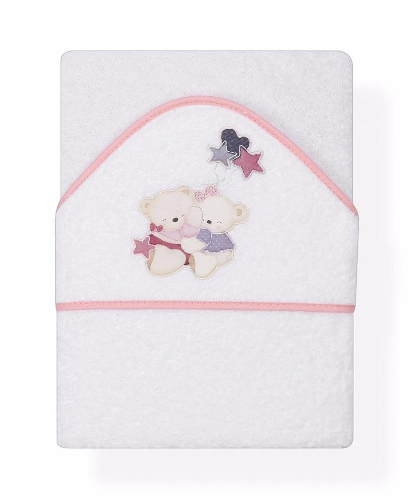 Capa de ba o bordada volamos baby rosa casaytextil - Capas de bano bebe personalizadas ...