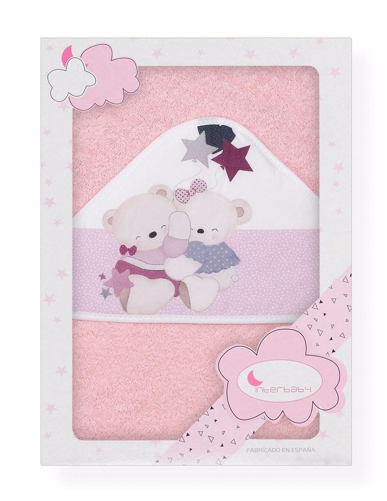 Capa de ba o estampada volamos baby rosa casaytextil for Accesorios bano rosa