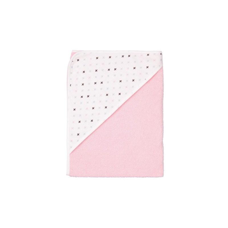 Capa de ba o para beb rosa luma casaytextil - Capa bano bebe ...