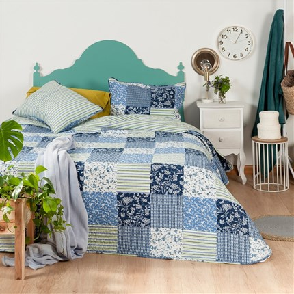 Colcha bouti Blue Flowers Icelands | CasayTextil
