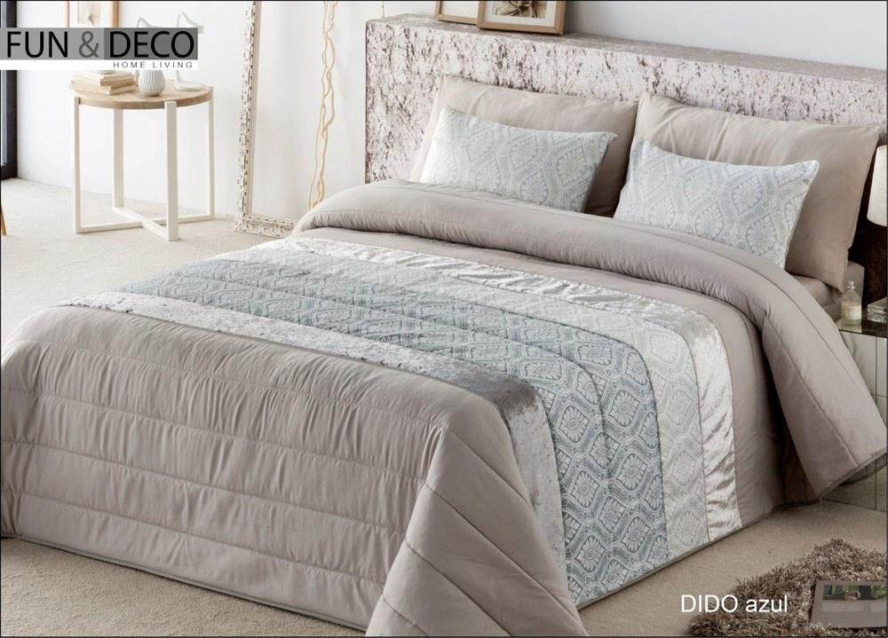 Colcha bouti dido azul casaytextil - Colchas para cama de 150 ...