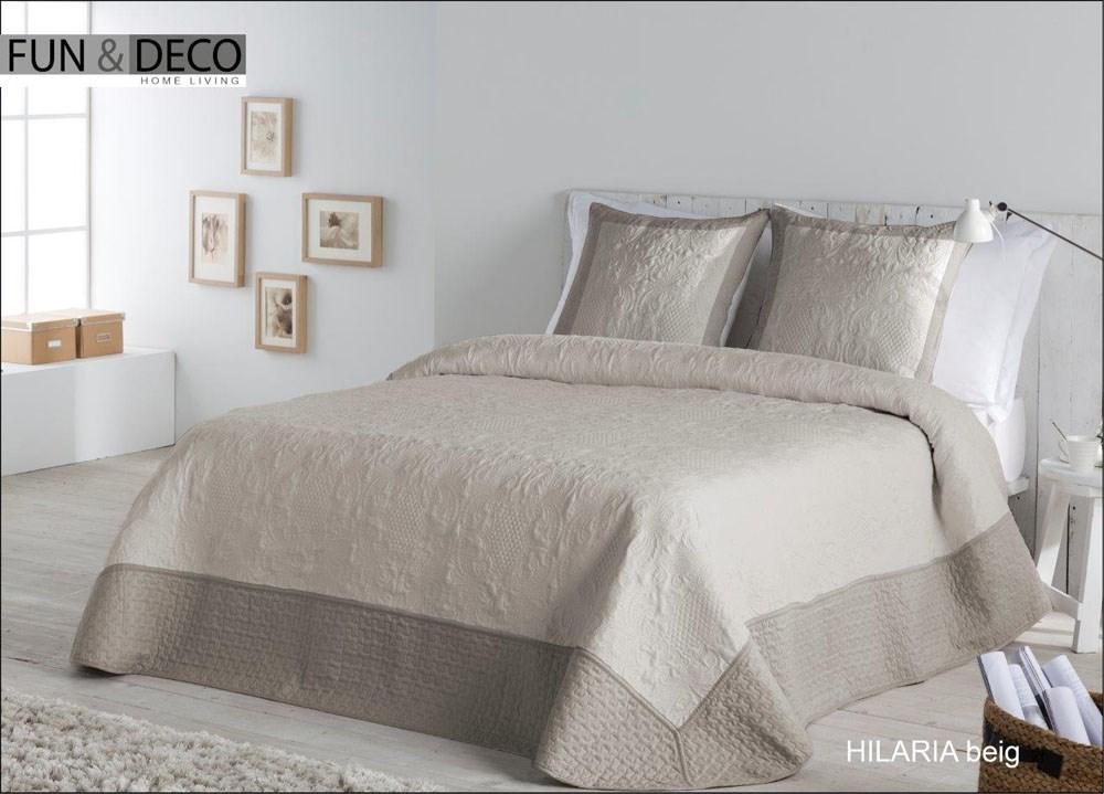 Colcha bouti hilaria beig casaytextil - Colchas para camas de 150 ...