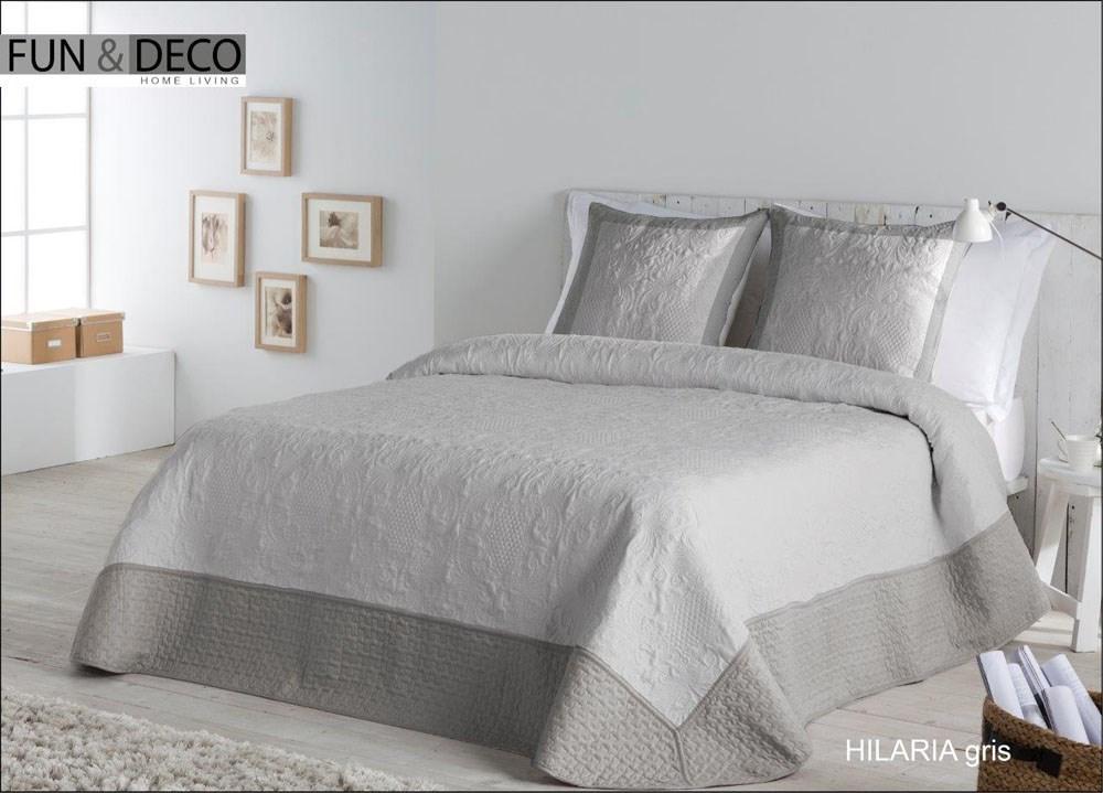 Colcha bouti hilaria gris casaytextil - Tipos de colchas ...