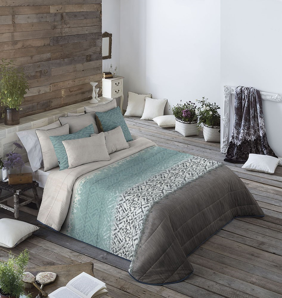Colcha bouti keler azul antilo casaytextil - Colchas para cama de 150 ...