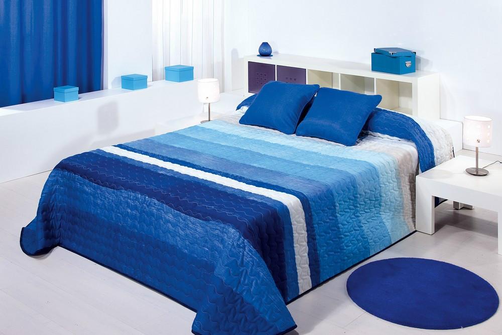 Colcha Bouti Monti (Camas 105 - Azul - )