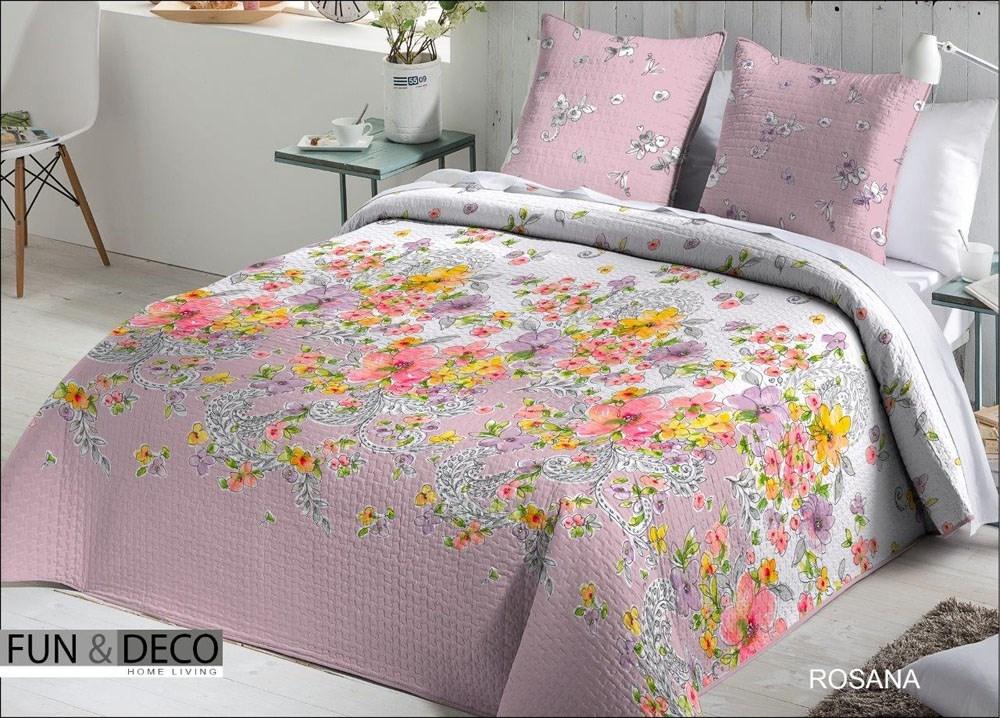 Colcha bouti rosana casaytextil for Colcha blanca cama 150