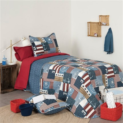 Colcha bouti reversible Ship Icelands | CasayTextil