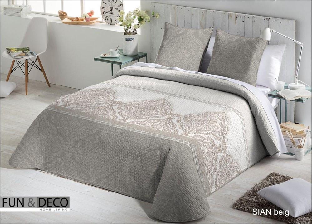 Colcha bouti sian beig casaytextil Colchas de cama de diseno