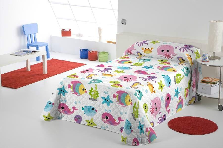 Colcha bouti undersea casaytextil - Edredones para camas de 90 ...