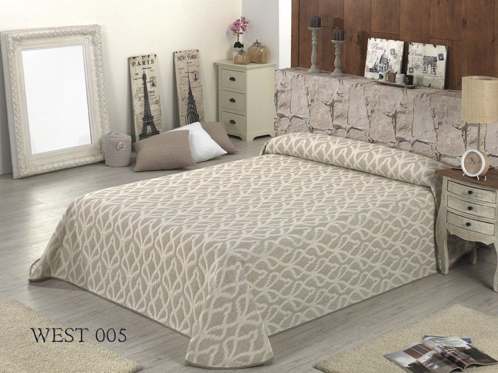 Colcha reversible west 005 casaytextil - Colchas para cama de 150 ...