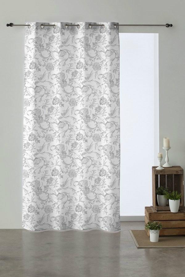 Cortina con anillas yasmi casaytextil - Anillas de cortinas ...