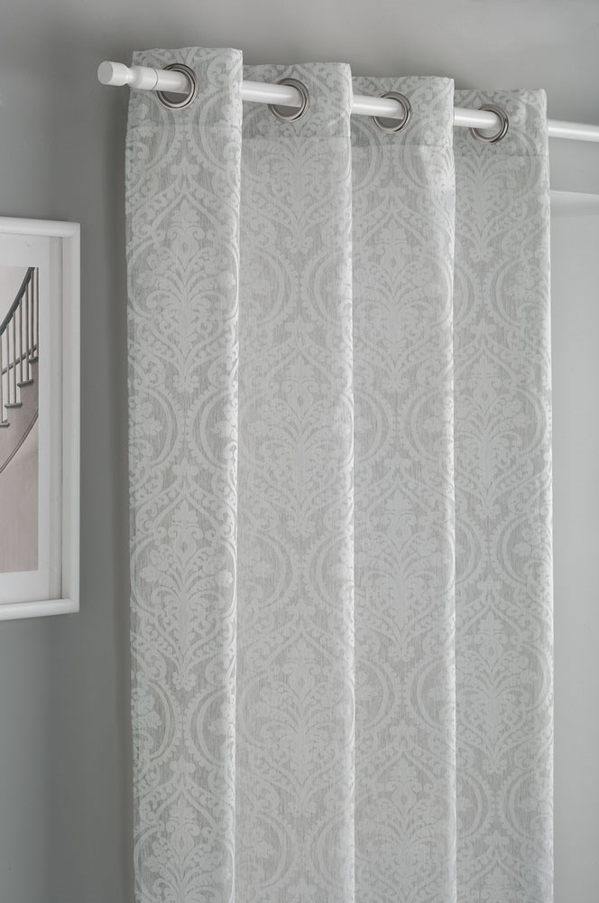 Cortina confeccionada dandy gris casaytextil for Cortinas grises