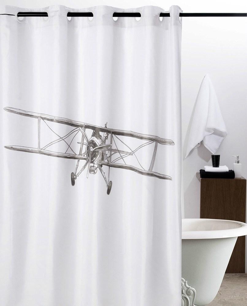 Cortina de ba o avioneta atenas casaytextil for Cortinas y accesorios de bano