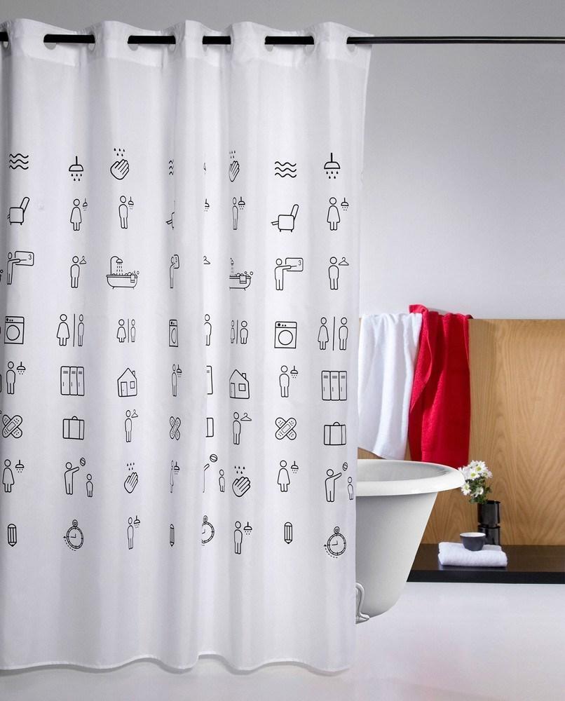 Cortina de ba o icons atenas casaytextil for Ganchos para cortinas de bano
