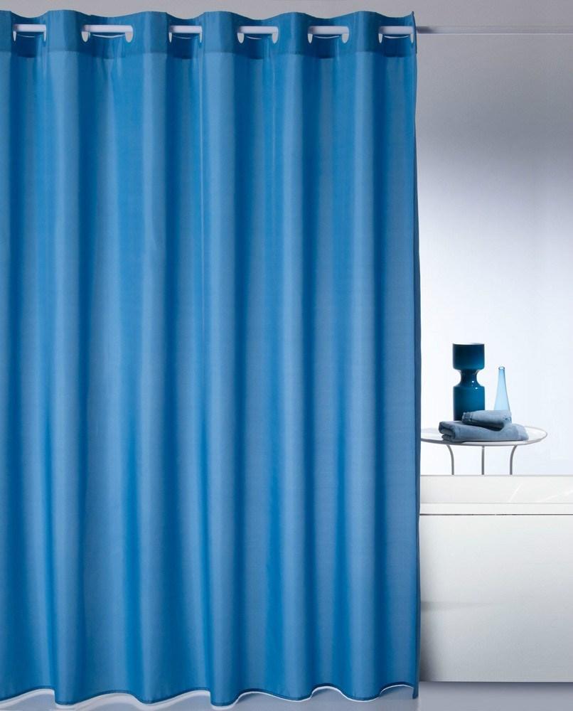 Cortina de ba o m gica lisa atenas casaytextil for Ganchos de plastico para cortinas