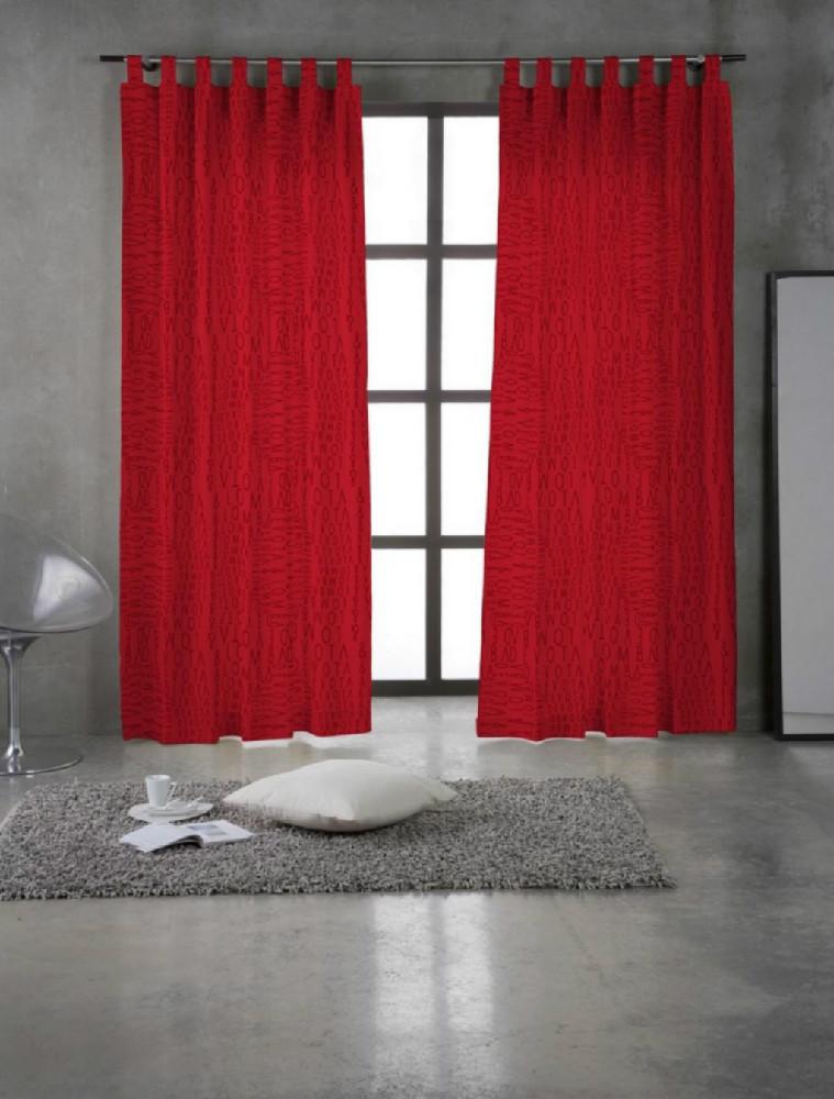 cortina divine devota lomba de euromoda 7 - Cortinas Rojas