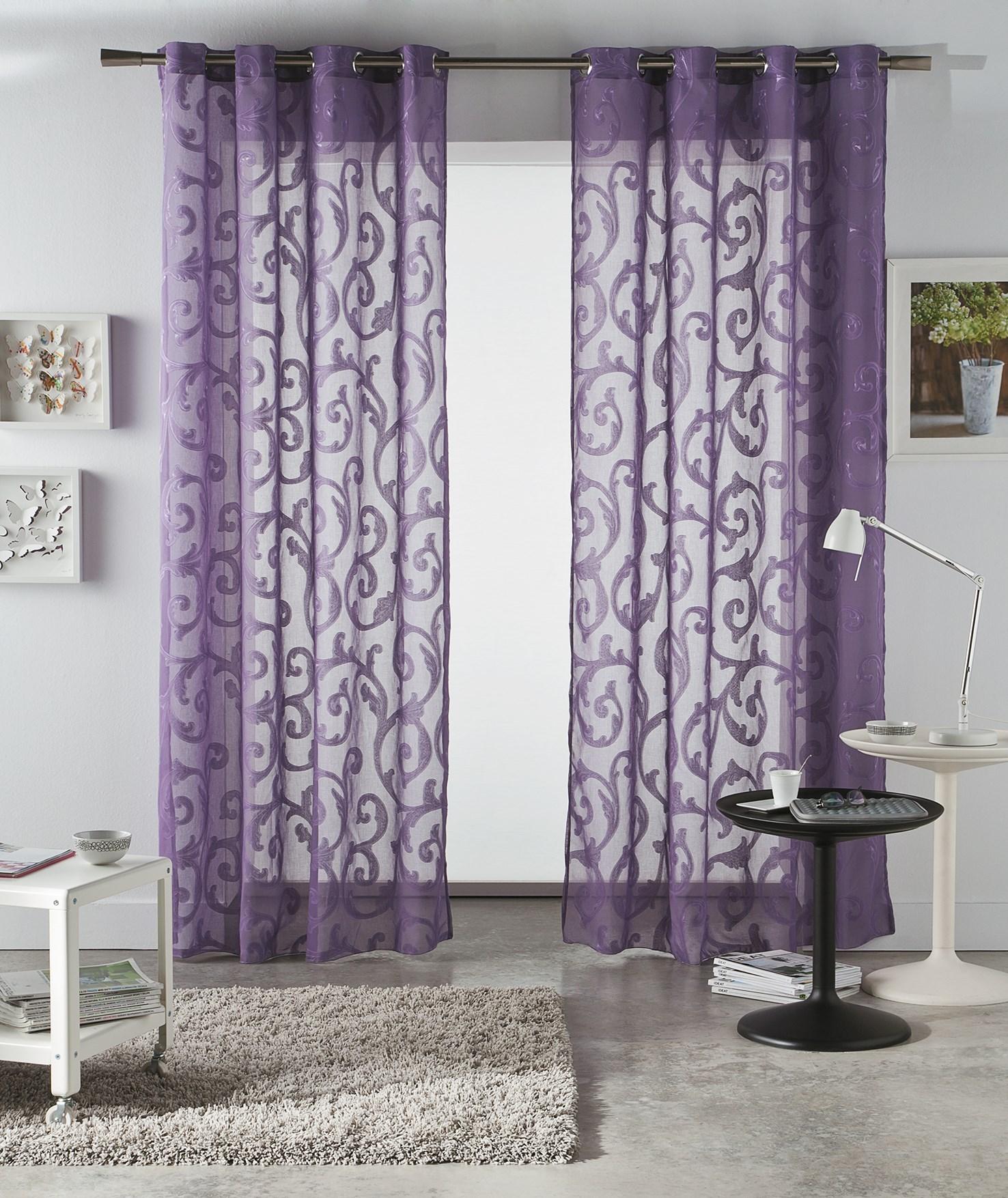 cortina leonor de fundeco - Cortinas Moradas