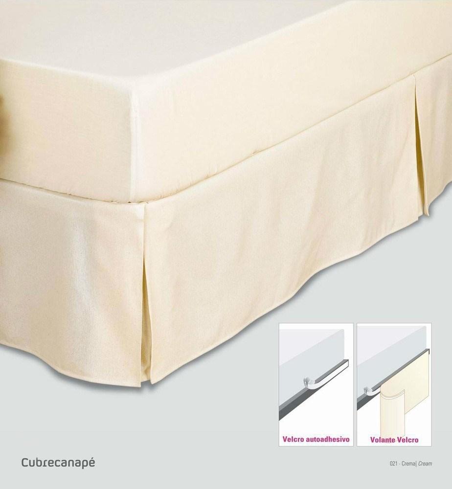 Cubre canapé rústico liso volante velcro es tela | CasayTextil