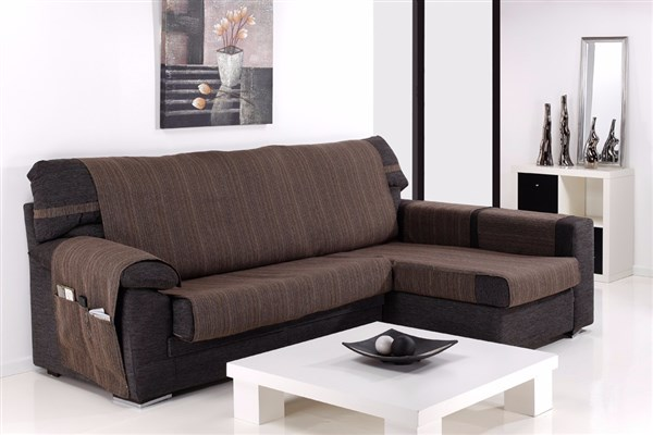 (Chaise longue extra (280 cm) - Chocolate - )