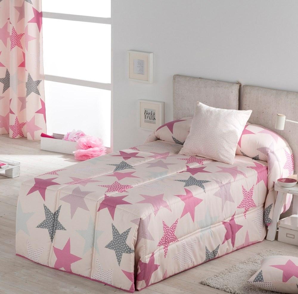 Edredón confort juvenil Estrellas Rosa