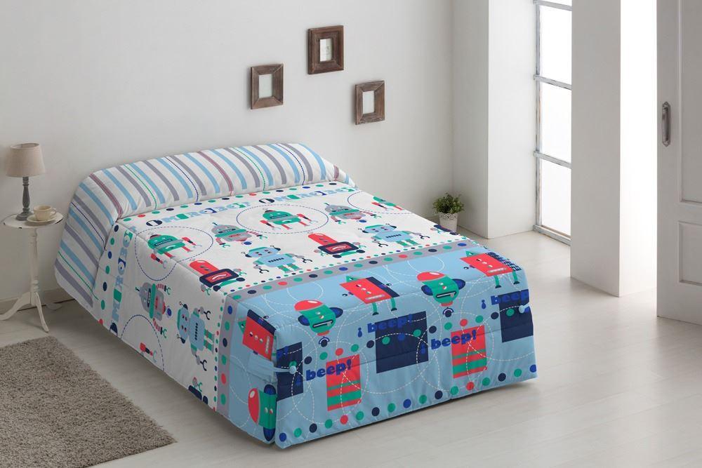 Edredón Conforter infantil Robots Azul