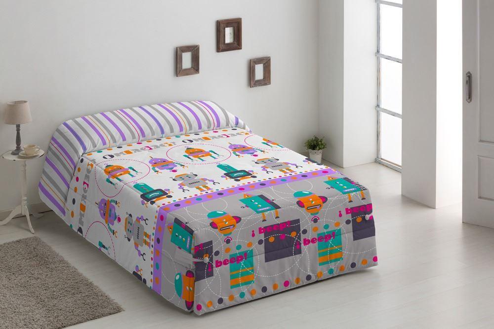 Edredón Conforter infantil Robots Gris