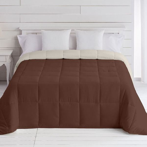Edredón nórdico Bicolor Basic Duvet reversible Marrón-Crema Barceló