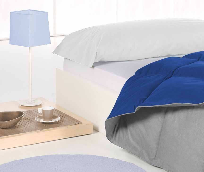 Edredón nórdico Duvet Color 002 Gris Manterol | CasayTextil
