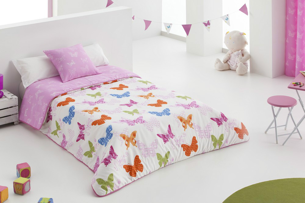 Edred n n rdico mariposas casaytextil - Edredones para camas de 90 ...