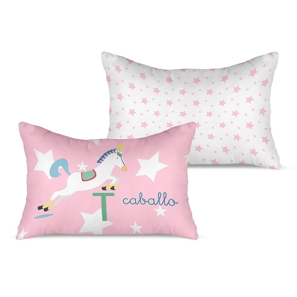 Funda de coj n caballo rosa cuadernos rubio casaytextil for Funda cojin 30x50