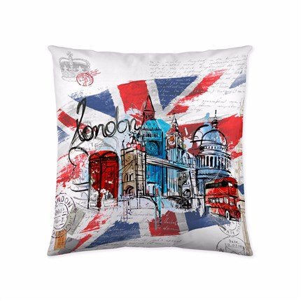 Funda de cojín London Graphic Naturals | CasayTextil