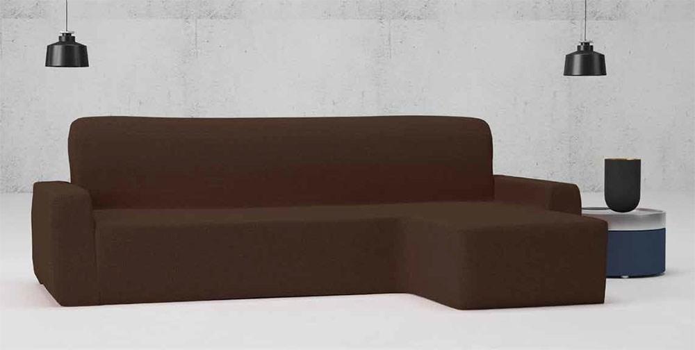 Funda de sofá chaise longue brazo corto bielástica Alaska Belmarti