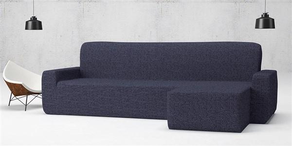 Funda de sof chaise longue brazo corto biel stica nature belmarti casaytextil - Funda sofa chaise longue ...