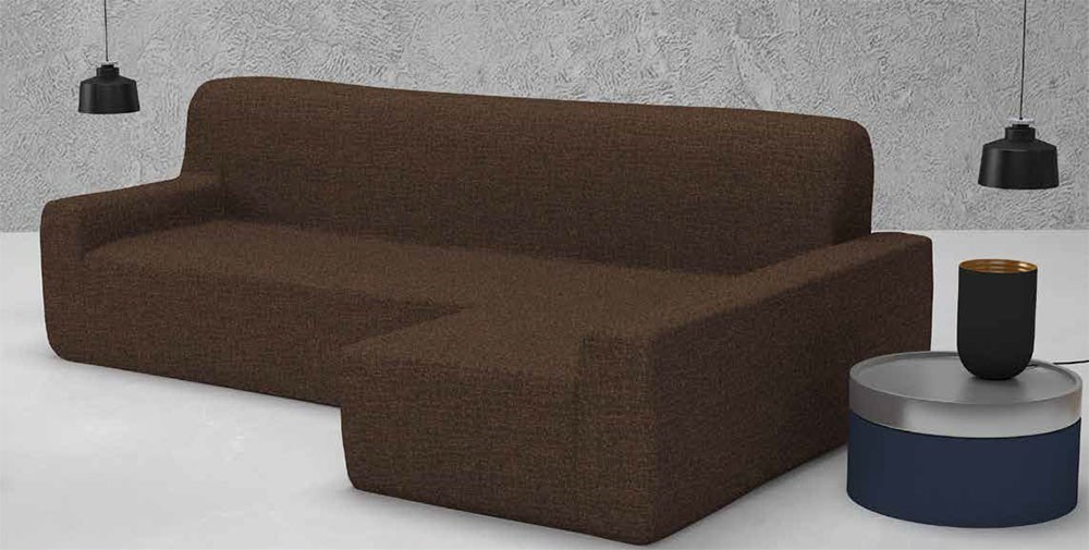 Funda de sof chaise longue nature casaytextil - Funda de sofa chaise longue ...