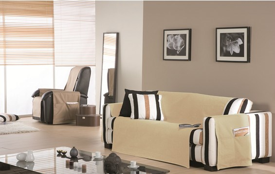 Funda de sofá practica lona liso  2472bad5c1c4