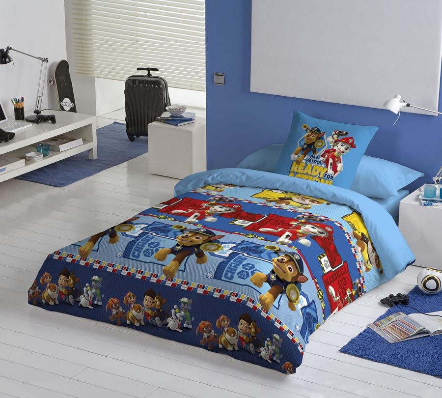 Funda n rdica all paws paw patrol casaytextil for Funda nordica cama 105