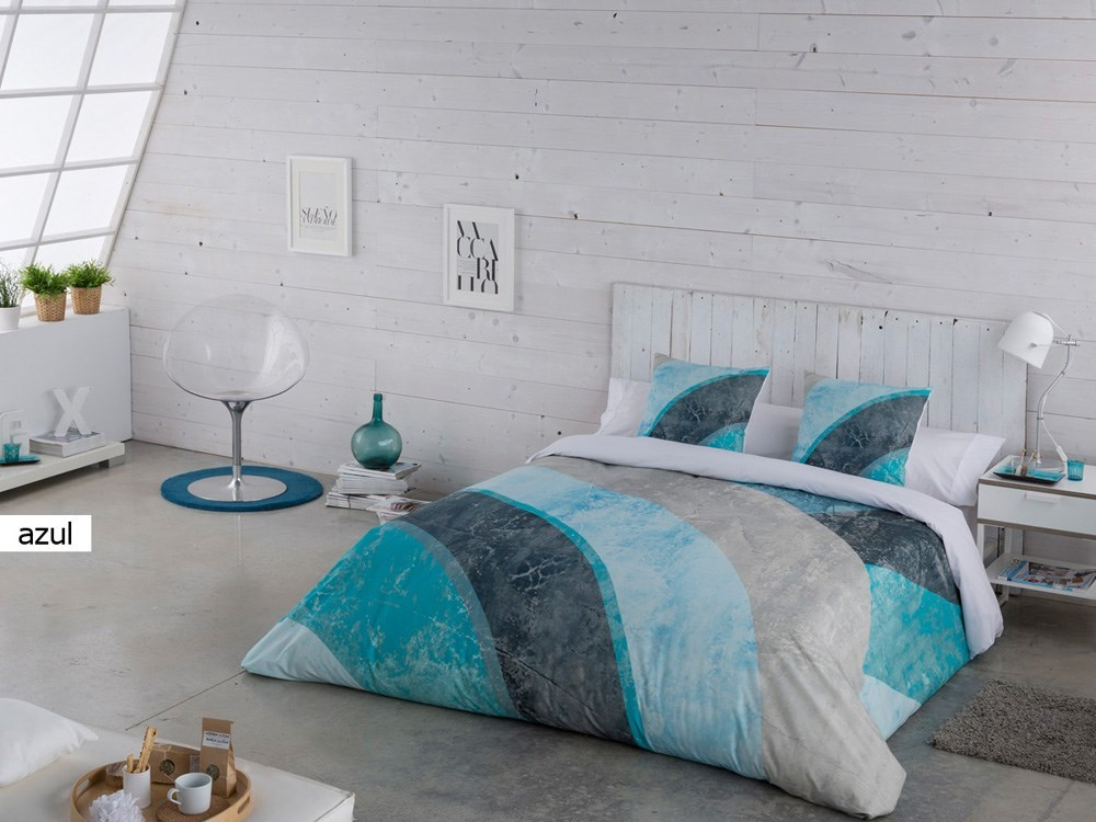 Funda n rdica austin azul paula casaytextil for Funda nordica cama 105