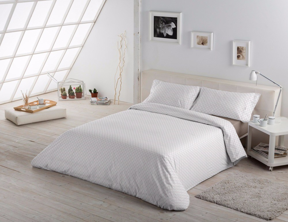 Funda n rdica dani gris casaytextil for Ikea funda nordica gris