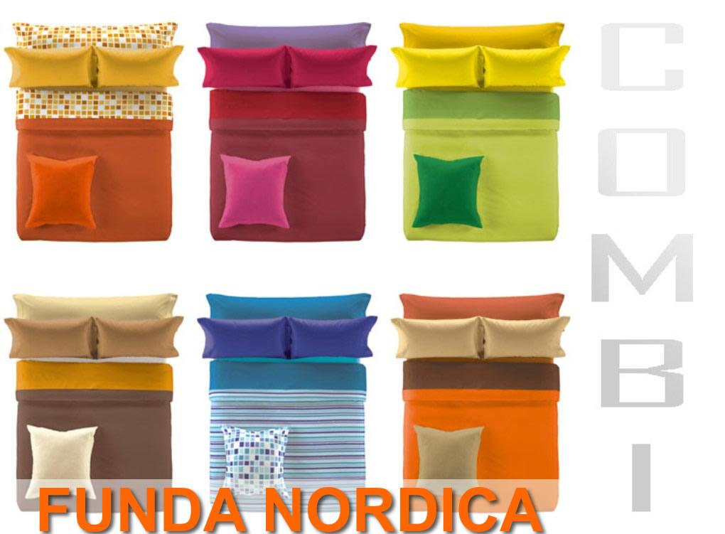 Funda nórdica bicolor reversible combi es tela | CasayTextil