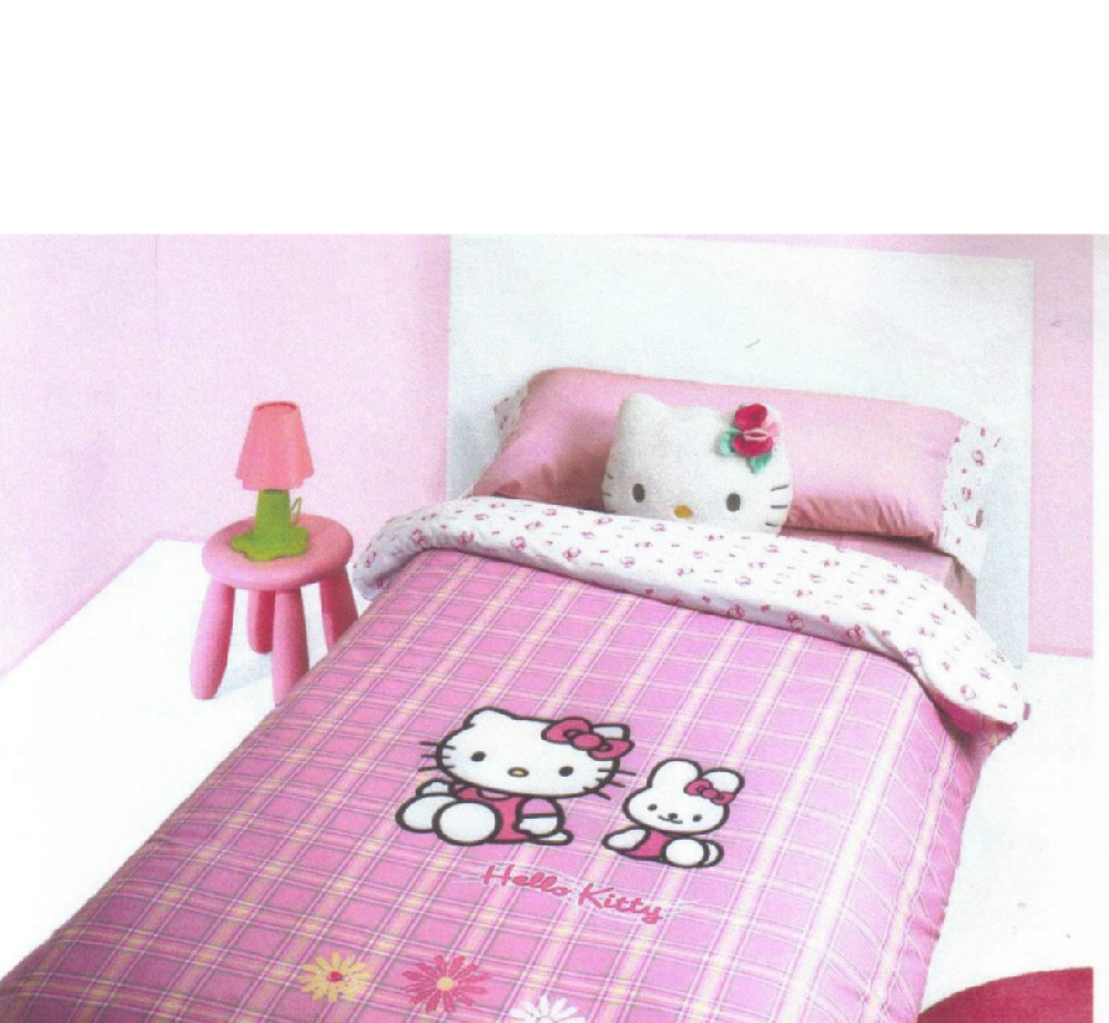 Funda nordica hello kitty friend casaytextil for Funda nordica cama 105