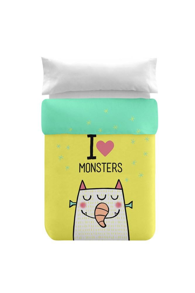 Funda Nordica Monster.Funda Nordica Infantil Monsters Reversible