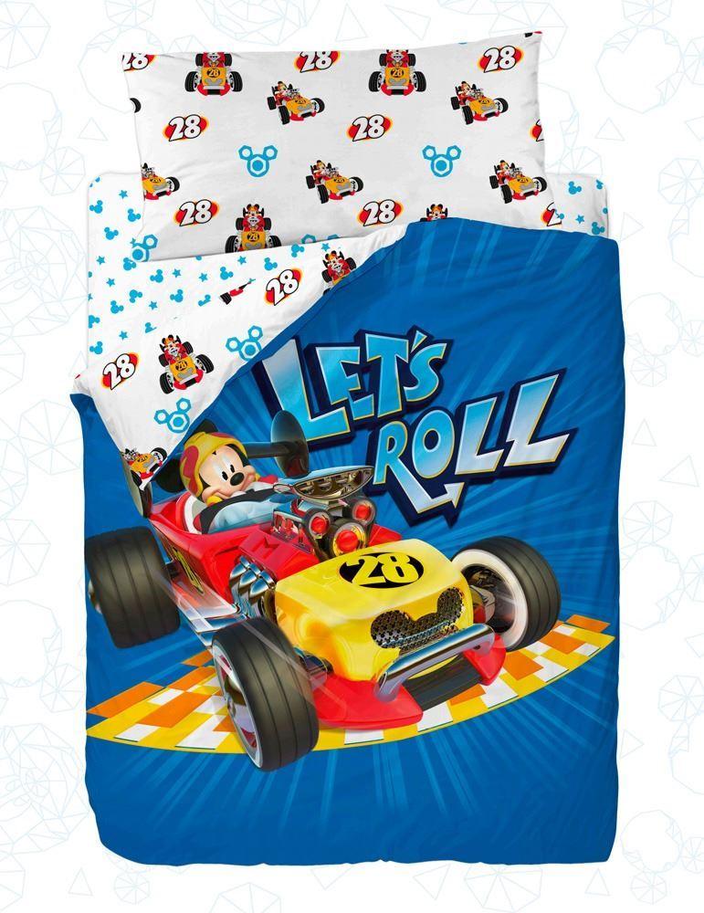 Funda nórdica infantil reversible Mickey Let´s Roll