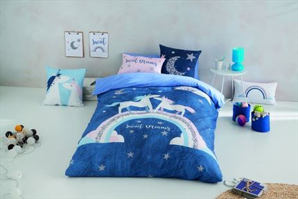 Funda nórdica infantil Unicorn Night Naturals | CasayTextil