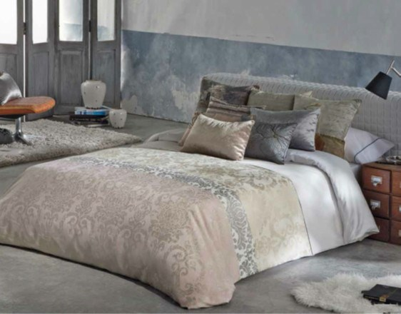 Funda n rdica jacquard bianca casaytextil - Fundas nordicas elegantes ...