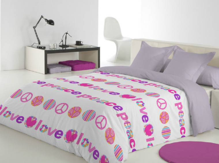 Funda Nórdica Love (Cama 180 (260x240) - Unico - )